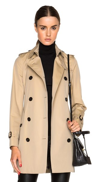 BURBERRY LONDON Kensington mid trench coat - Self & Lining: 100% cotton - Lining 2: 100% viscose. ...