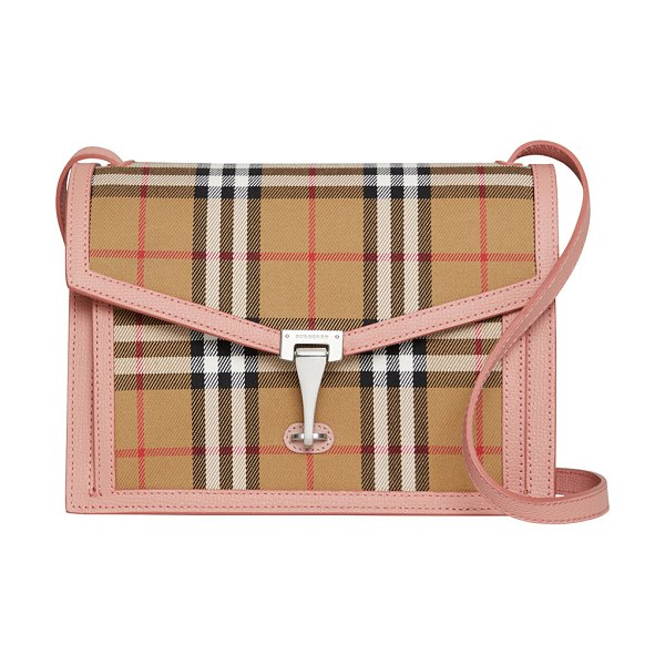 Burberry Macken Small Vintage Check Crossbody Bag in pink