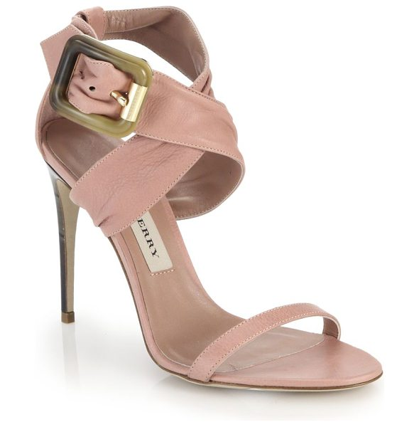 BURBERRY Marham leather criss-cross sandals - These buttery leather sandals are beautifully sculpted...