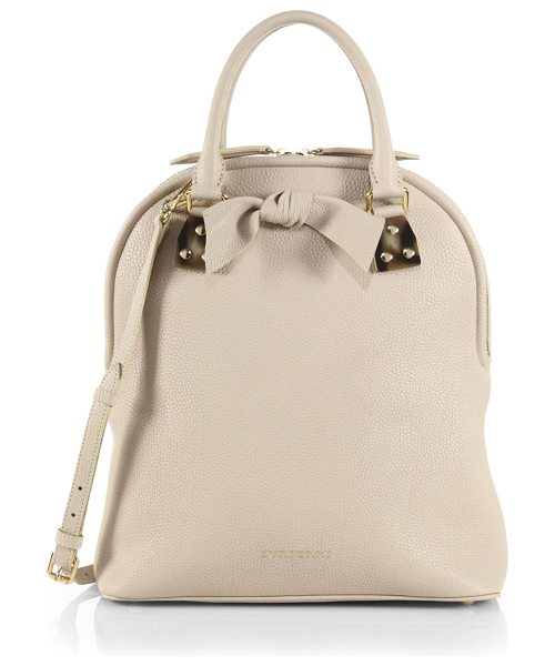 BURBERRY Medium bloomsbury satchel - Beautifully structured in rich pebbled leather, this...