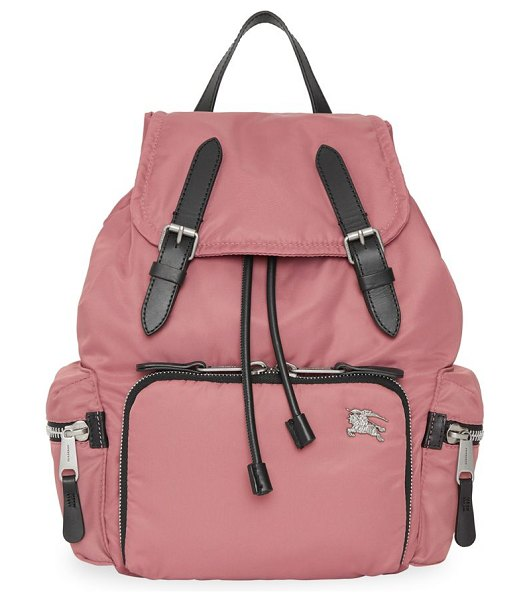 Burberry medium buckle rucksack in mauve pink - Inspired by military archive bags, our timeless...