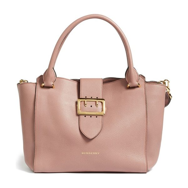 Burberry medium buckle tote in dusty pink - A bold buckle strap heightens the vintage influence of a...