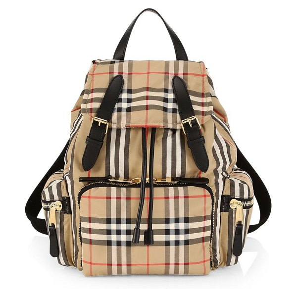 Burberry medium vintage check rucksack in neutral