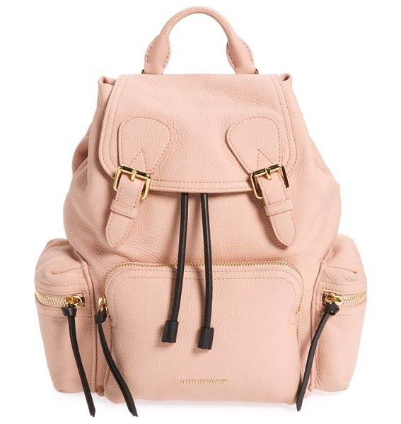Burberry medium rucksack deerskin backpack in pale apricot - Featuring a silhouette influenced by military archive...