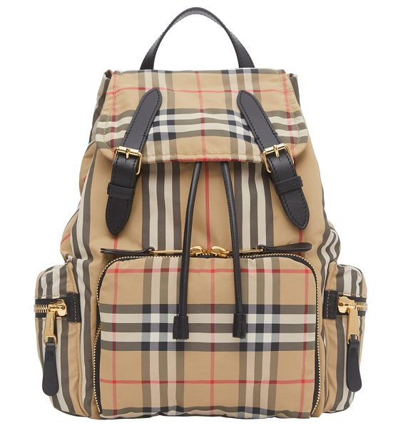 Burberry medium rucksack vintage check backpack in beige