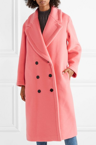 Burberry oversized double-breasted wool and cashmere-blend coat in pink - Camille Charrière recently told us that the easiest way...
