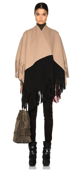 Burberry Prorsum Color block cashmere poncho in neutrals - 83% wool 11% cashmere 5% polyamide.  Made in Italy. ...
