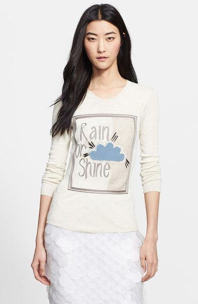 Burberry Prorsum rain or shine embroidered sweater in parchment - A fine-gauge pullover made from an incredibly soft...