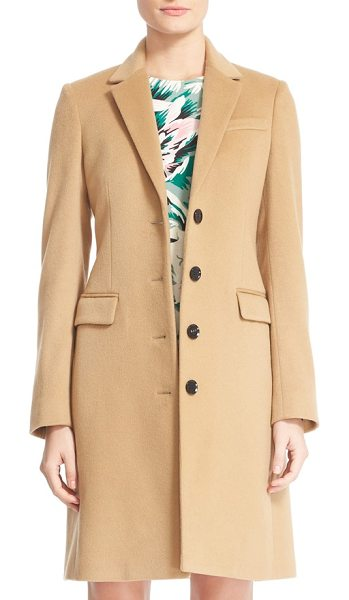 Burberry sidlesham wool & cashmere coat in camel - Timelessly appealing in a fitted silhouette, a...