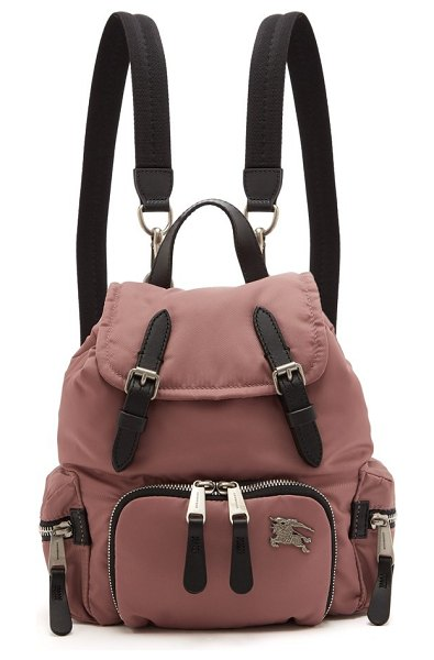 Burberry small backpack in light pink - Burberry - Burberry's small pink nylon backpack is...