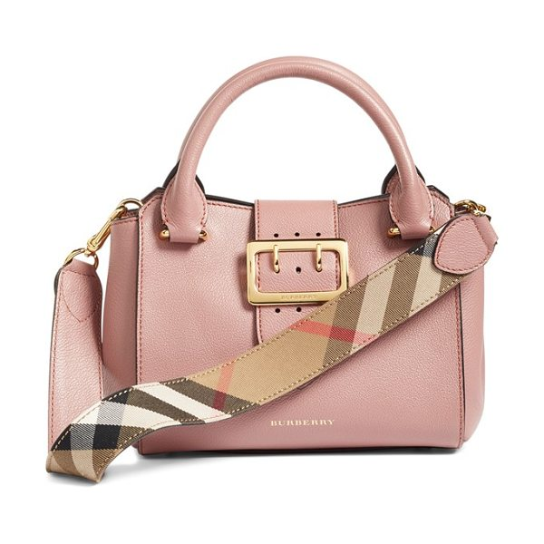Burberry small buckle leather satchel in dusty pink - A small satchel makes a major style impact with...