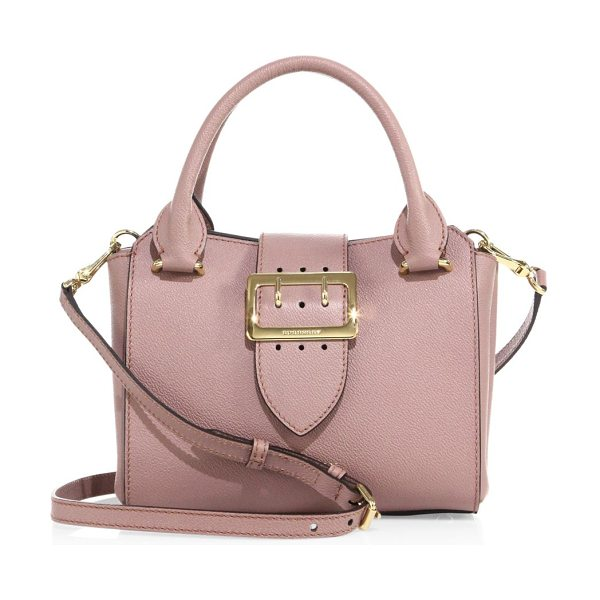 Burberry small buckle leather satchel in dusty pink - Grained leather satchel secured with polished buckle....