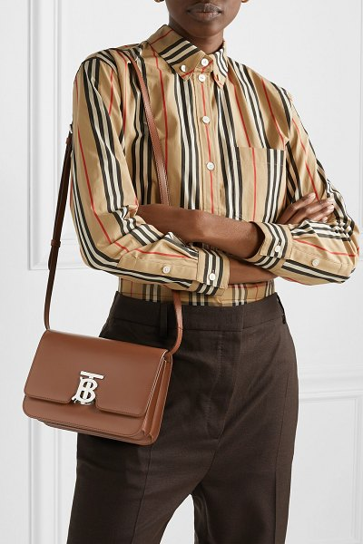 Burberry small leather shoulder bag in brown - In honor Thomas Burberry, Creative Director Riccardo...