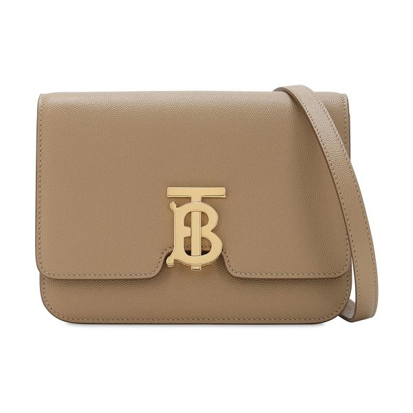 Burberry Small tb leather shoulder bag in archive beige