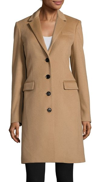 Burberry sidlesham tailored wool-blend coat in camel - Classic tailored coat in a rich wool and cashmere blend....