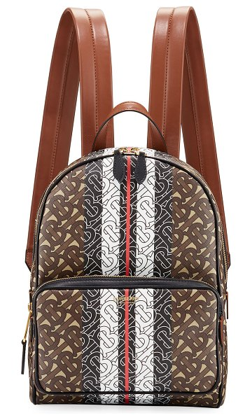 Burberry TB Monogram Canvas Backpack in brown pattern