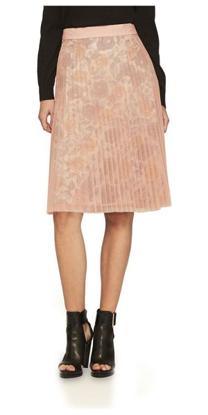 Burberry technical-pleated tulle a-line skirt in pale rose - Gauzy pleated tulle skirt with floral-print lining....