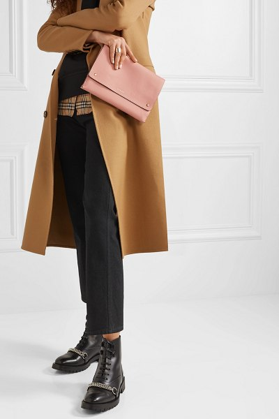Burberry textured-leather shoulder bag in blush