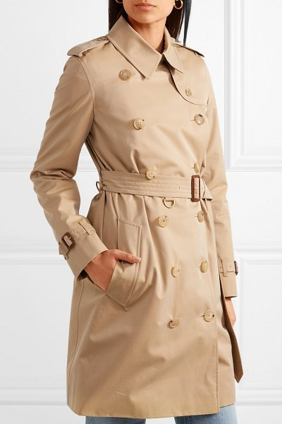 ee0a767b764f Burberry the kensington cotton-gabardine trench coat in beige - An iconic  heritage coat