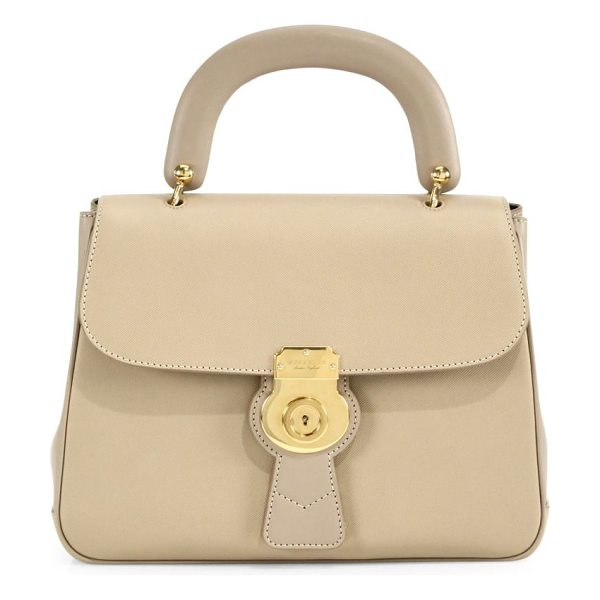 Burberry the medium dk88 top handle bag in honey - Timeless silhouette rendered in exclusive new Trench...