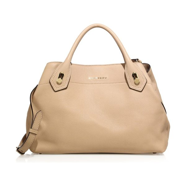 BURBERRY the milton medium leather satchel - Grainy leather satchel with goldtone metal rivets....