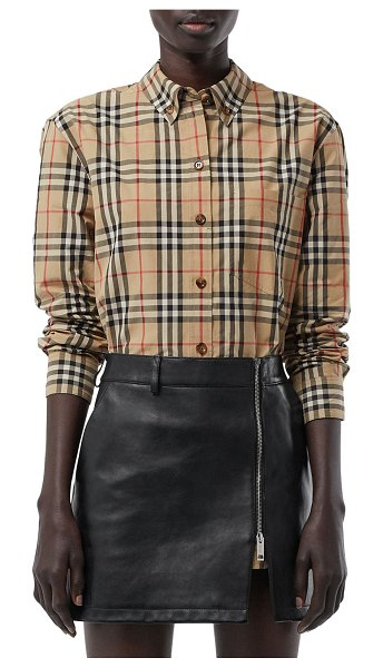Burberry Vintage Check Classic Fit Shirt in beige