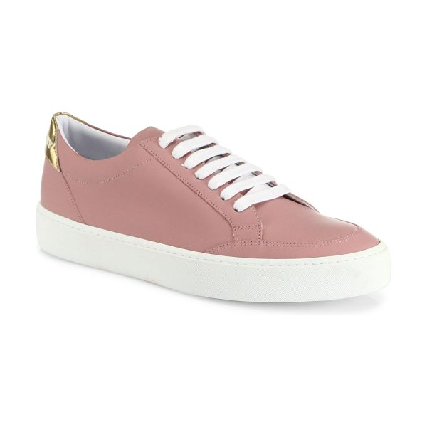 Burberry westford leather sneakers in rose gold - Smooth leather low-top sneaker with metallic heel tab....