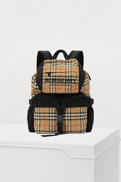 Burberry Wilfin nylon backpack in archive beige