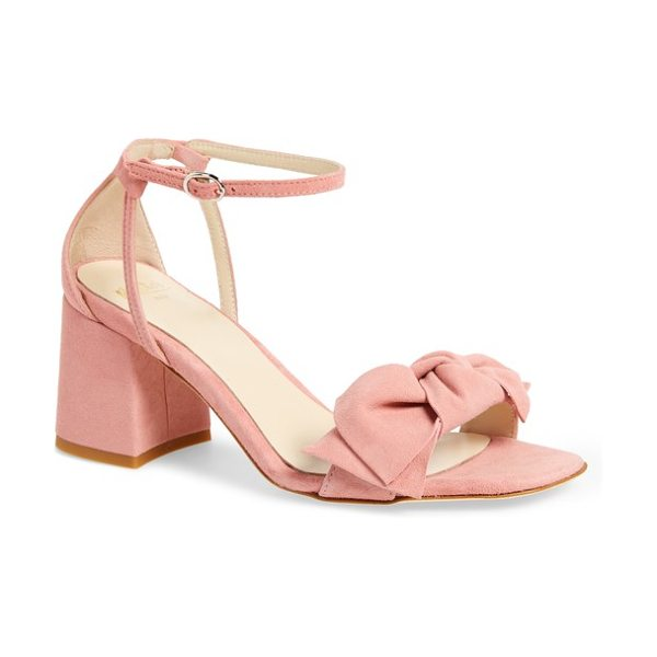 Butter Shoes butter flower sandal in seashell suede - A casually knotted bow crowns the toe strap of a lovely...