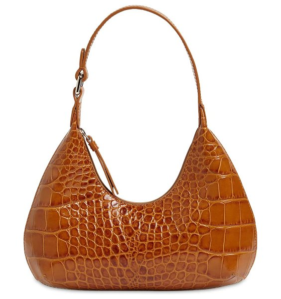 by FAR Baby amber croc embossed leather bag in tan
