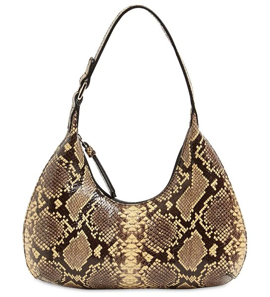 by FAR Baby amber snake print leather bag in moka