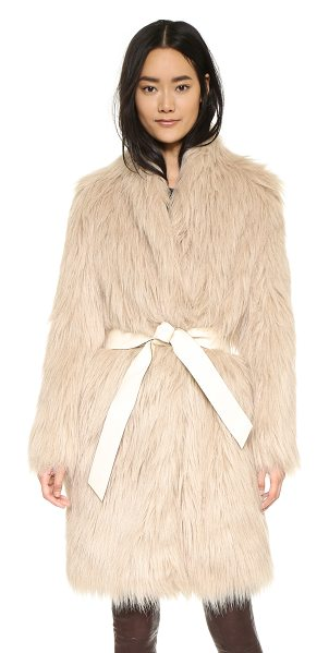 BY MALENE BIRGER Katinca faux fur coat - A By Malene Birger coat made from shaggy faux fur. Hook...