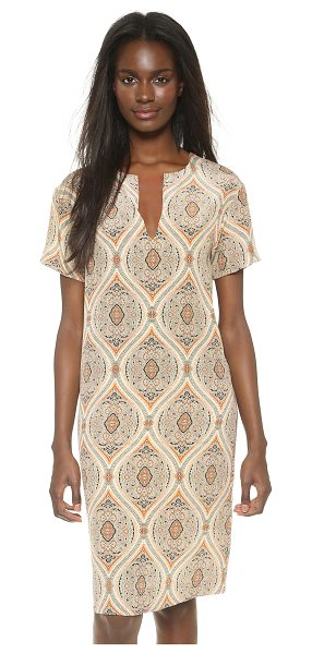 By Malene Birger Pahpah paisley dress in deep caramel - Rich paisley brings depth to a clean lined By Malene...