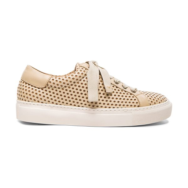 By Malene Birger Rawani perforated leather sneakers in neutrals - Perforated leather upper with rubber sole.  Made in...