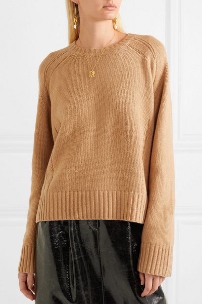 By Malene Birger sullie wool-blend sweater in camel - Thanks to its relaxed cut and versatile tan hue, By...