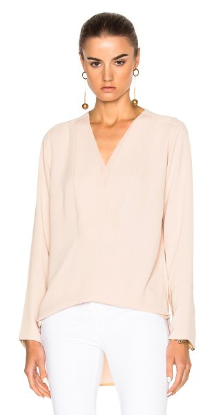 BY MALENE BIRGER Triply Top - Self: 100% poly - Trim: 100% silk.  Made in China.  Dry...