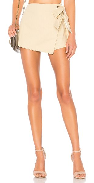 "by the way. Alaya Grommet Wrap Skort in beige - ""70% cotton 30% linen. Hand wash cold. Unlined. Wrap..."