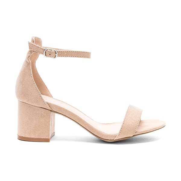 "by the way. Angie Sandals in tan - ""Man made upper and sole. Ankle strap with buckle..."