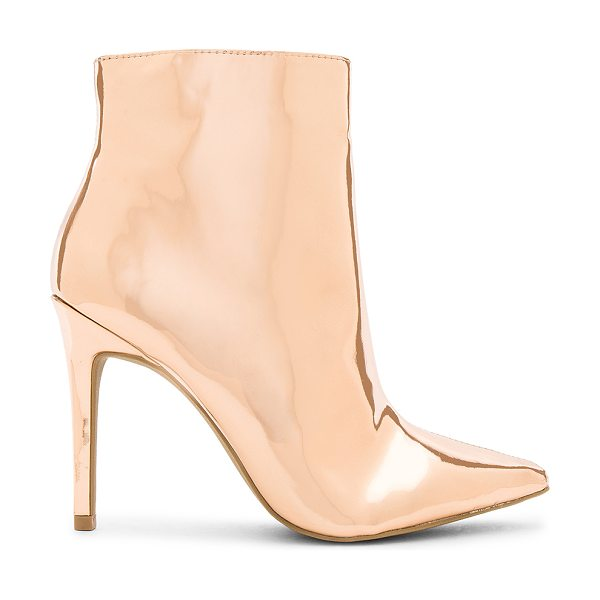 """by the way. Ashley Bootie in metallic copper - """"Metallic man made upper with man made sole. Side zip..."""