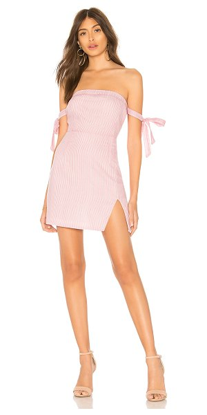 """by the way. Athena Off Shoulder Dress in pink - """"Self: 100% cottonLining: 100% rayon. Hand wash cold...."""