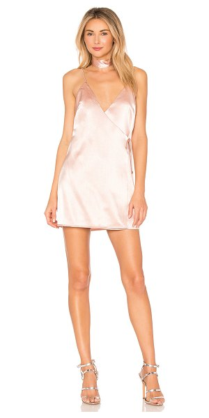 by the way. Brandy Satin Wrap Dress in blush