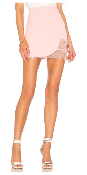 "by the way. Brianna Lace Skirt in pink - ""Self: 90% poly 10% elastaneLining: 100% nylon. Hand..."