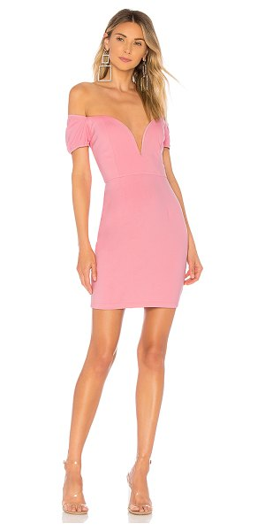 by the way. christina cap sleeve mini dress in rose pink
