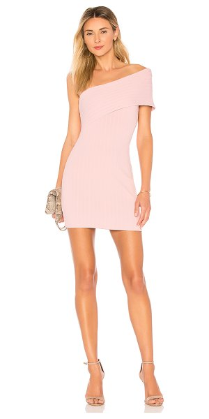 superdown diana one shoulder mini in blush