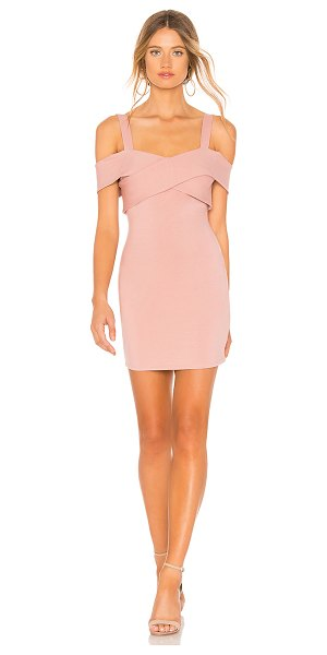 by the way. evie cold shoulder mini dress in mauve