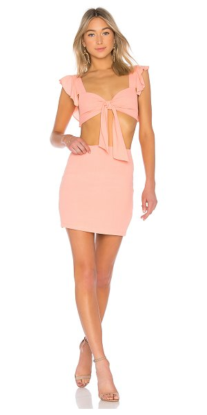 by the way. goldie ruffle set in peach