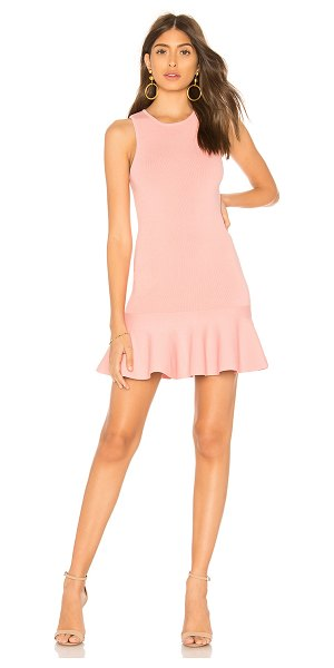 by the way. Jazzie Ruffle Dress in pink - 73% rayon 15% nylon 10% spandex. Hand wash cold....