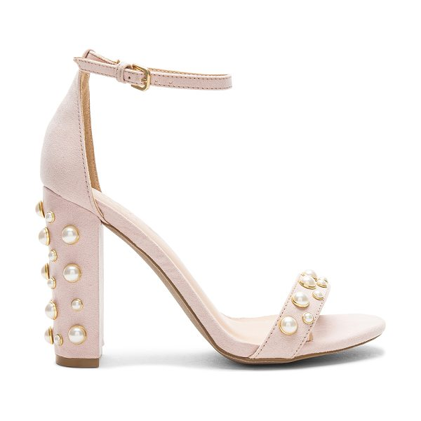 "by the way. Lily Heel in beige - ""Textile upper with man made sole. Ankle strap with..."