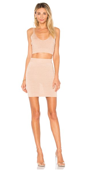 by the way. paulina lurex knit set in rose gold