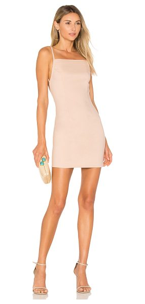 by the way. Petra Backless Mini Dress in rose - 55% cotton 40% nylon 5% spandex. Hand wash cold....